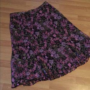 Sag Harbor Pink & Green Floral Spring Skirt 12